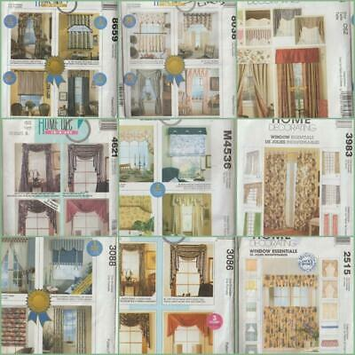 Valance Curtain Patterns - OOP McCall's Sewing Pattern Home Décor Drapes Curtains Valances Shades You Pick