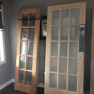 """NEW French Doors (interior) 32"""" x 80"""" - tempered glass"""
