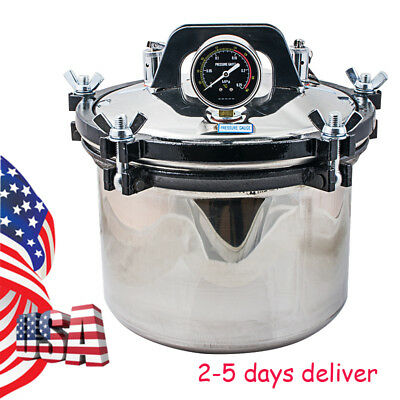 8l Steam Sterilizer Medical Dental Tattoo Silver Autoclave Sterilization Equipme