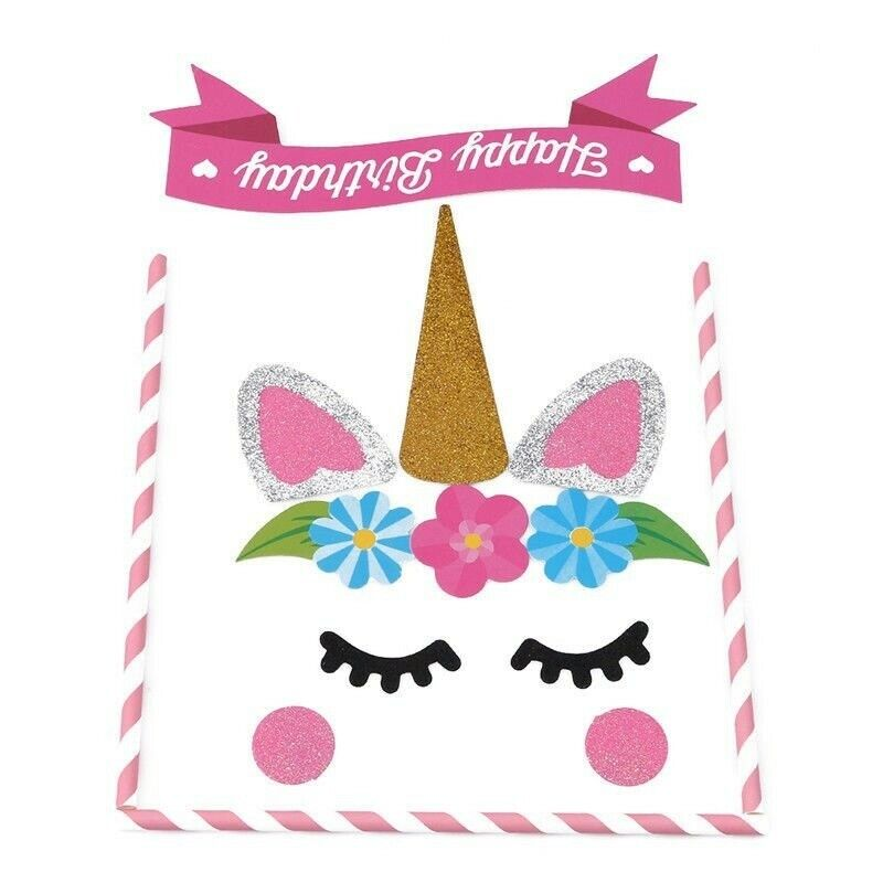 1 Set Cake Topper Decor Tool Handmade Happy Birthday Candle Party Supplies Cute