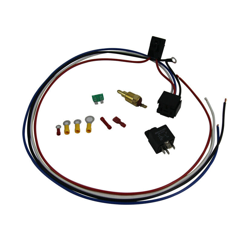 Electric Cooling Thermostat Relay Fan Kit Sensor
