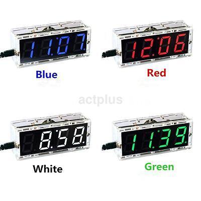 4-digit DIY Digital LED Clock Kit Light Control Temperature Date Time Display ac