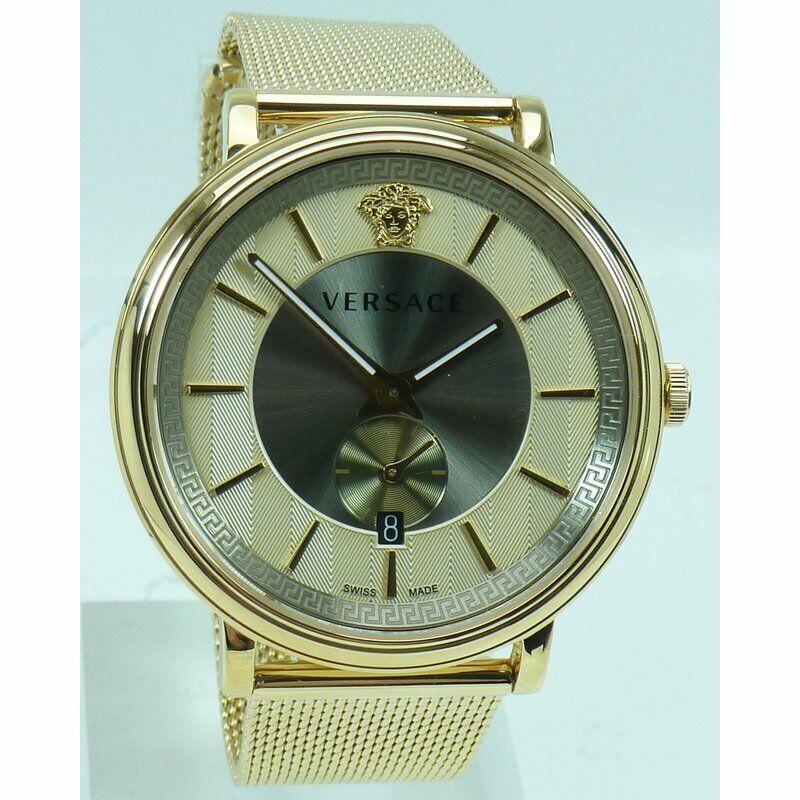 Versace Uhr Uhren Herrenuhr VBQ070017 V CIRCLE Edelstahl Markenuhr NEU