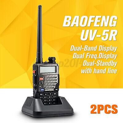 Dual Way Radio Scanner Transceiver Handheld Police Fire Portable Antenna Walkie