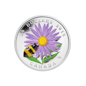 RCM Murano Venetian Glass Bumble Bee 1 oz Fine Silver Coin Mint