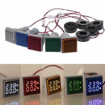 Ac 50-500v 0-100a Voltmeter Ammeter Digital Led Voltage Current Gauge Meter Mini