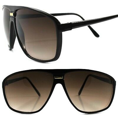 True Vintage 80s 90s Hip Hop Swag Mens Womens Fashion Black Square Sunglasses
