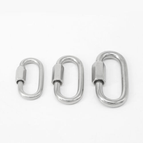 Stainless Steel D Shape Carabiner Clip Snap Hook Outdoor Sma