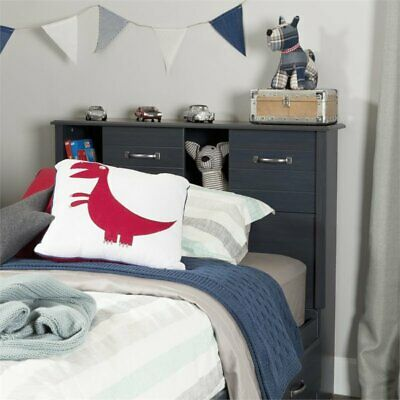 Blueberry Twin Bookcase Headboard - South Shore Ulysses Twin Bookcase Headboard in Blueberry