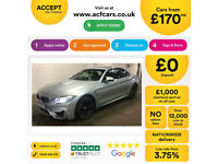 Blue BMW M4 3.0 M DCT 2016 M4 FROM £170 PER WEEK!