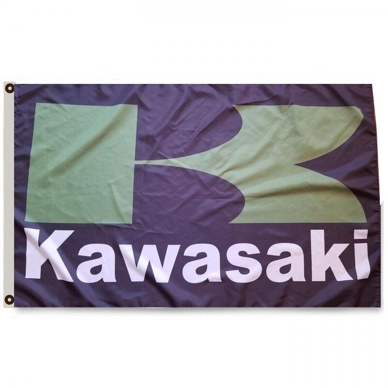 KAWASAKI BANNER FLAG 3X5FT MOTORCYCLE DIRT BIKE JET SKI 4 WH
