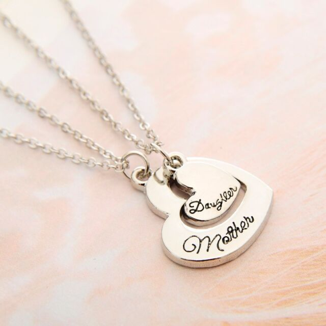 Dual heart shaped mother daughter pendant necklace twinset mothers dual heart shaped mother daughter pendant necklace twinset mothers day gift aloadofball Gallery