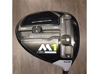 Brand new taylormade m1 driver 2017 model. 10.5 degree with a regular shaft. I also have others