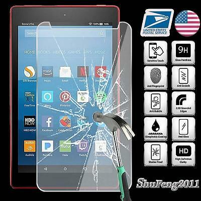 Tempered Window-pane Screen Protector For Amazon Kindle Fire HD 8 2017 7th Gen Tablet