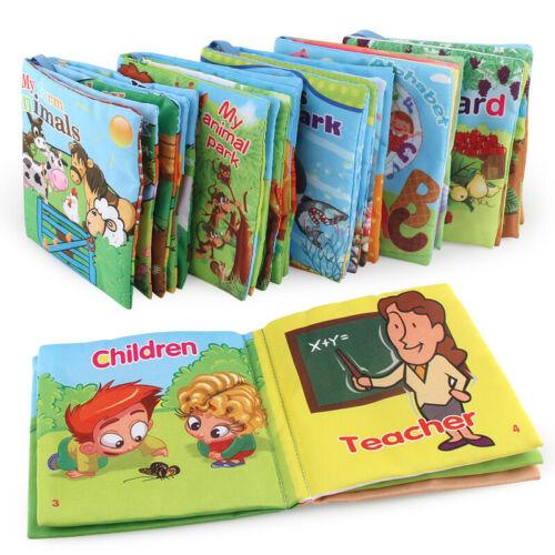Kid Baby Intelligence Development Soft Cloth Cognize Books E
