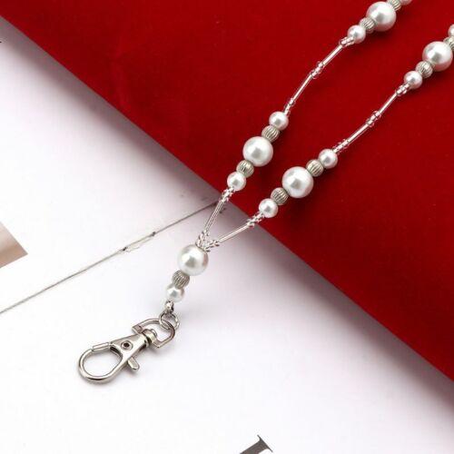 hidden hollow beads white pearls beaded lanyard