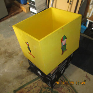 Wooden Toy Box on Casters