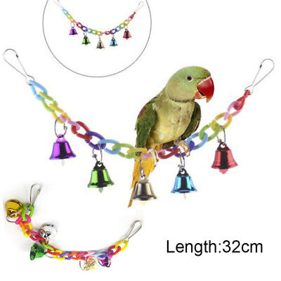 Pet Colorful Bird Hanging Toy Parrot Swing Cage Toy for Parakeet Budgie Lovebird