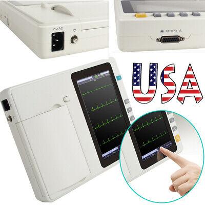 Touch Screen 6-channel Digital Cardiology Ekg Ecg Machine Portable Monitor Fdace