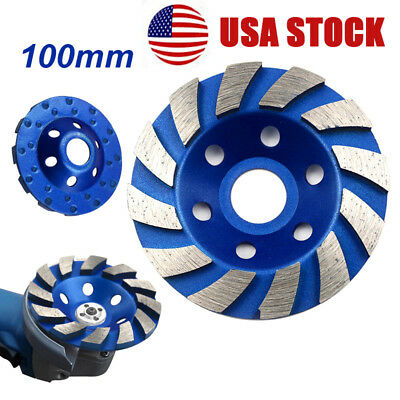 4 Inch 4 Diamond Segment Grinding Cup Wheel Disc Grinder Concrete Granite Stone