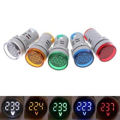 22mm Ac 60-500v Digital Voltmeter Voltage Gauge Monitor Indicator Signal Lights