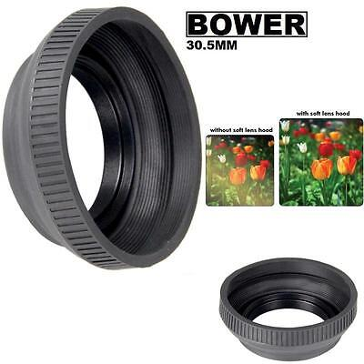 Bower 30.5mm Collapsible Rubber Lens Hood (Black) For  Photo & Video -