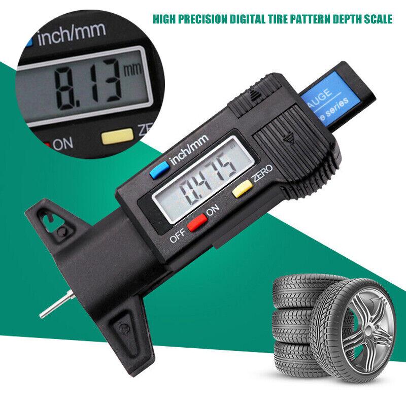 Digital LCD Reifenprofilmesser Tiefenmesser Reifen Messchieber inkl.Batterie