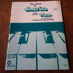 The Music of America, Their Greatest Hits, Piano 31 Pages Kitchener / Waterloo Kitchener Area image 1