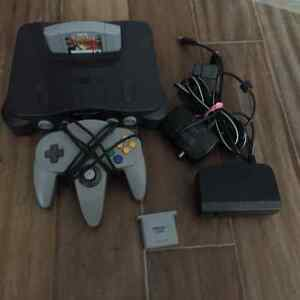 n64, 1 controller, 1 game, 1 memory pack 40$ firm.
