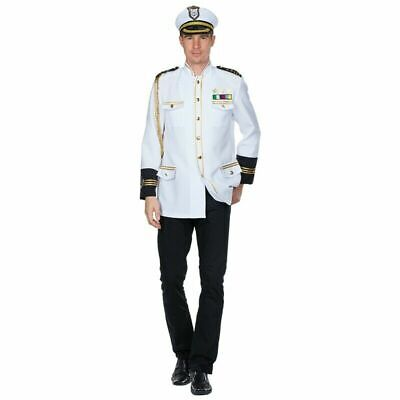 Kapitän  Kapitänsjäcke   Kapitänsmütze Seemann Offizier Captain Uniform Kostüm  - Kapitän Mann Kostüm