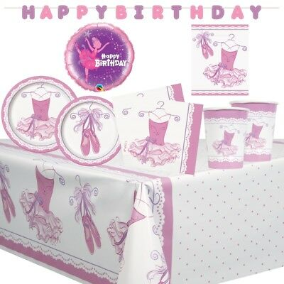 Ballet Decorations Party (Pink Ballerina Ballet Shoes Party Supplies Tableware, Balloons &)
