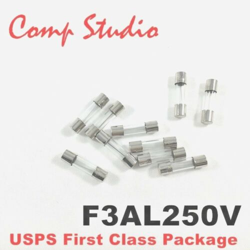 1//4 x 1-1//4 Compstudio 20Pcs F12AL250V 6X30MM 12A Fast Blow Fuse 12 Amp 250V Glass Fuse Fast-Acting Fuse