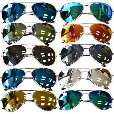 Sonnenbrille Pilotenbrille Verspiegelt Fliegerbrille Brille Pornobrille UV 400