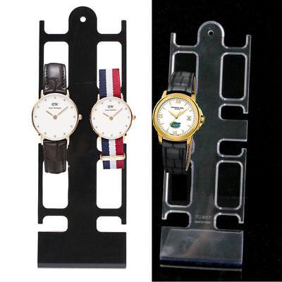 2 Pcs Portable 4 Slots Plastic Watch Bracelet Showcase Display Stand Holder Rack