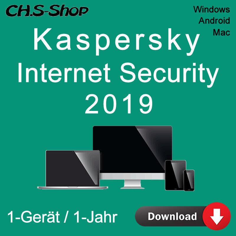 Kaspersky Internet Security 2019 *1-Gerät / 1-Jahr* DE / KEY