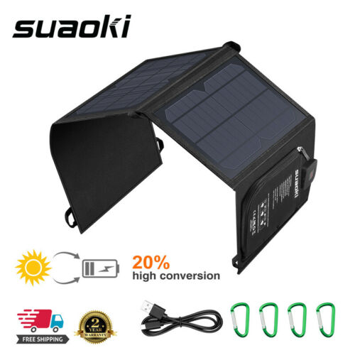 SUAOKI 21W Foldable Solar Panel Smartphone Tablet Battery Ch