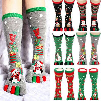 Christmas Animal Print Toe Socks Five Finger Warm Socks Cotton Funny Socks USA](Funny Animal Christmas)