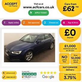 Audi A3 2.0TDI ( 150ps ) Sportback ( 13MY ) 2013MY Sport FROM £62 PER WEEK!