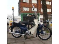 2007 Honda C50 Super Cub Classic Vintage Ex Tokyo Airport Police Patrol Bike.