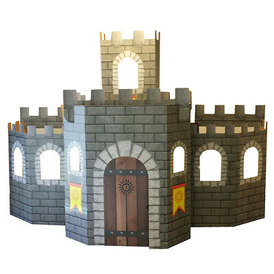 3D CASTLE Kids Playhouse CARDBOARD STRUCTURE Over 9 Feet Wide FREE SHIPPING