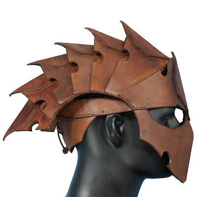 Assassin Costumes For Kids (Quality Leather Assassins Helmet Perfect For Stage Costume Or LARP 2 Colours)