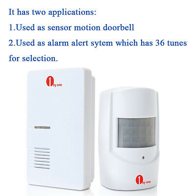 Wireless Motion Sensor Car Detector Door Bell Gate Entry Chime Alarm System