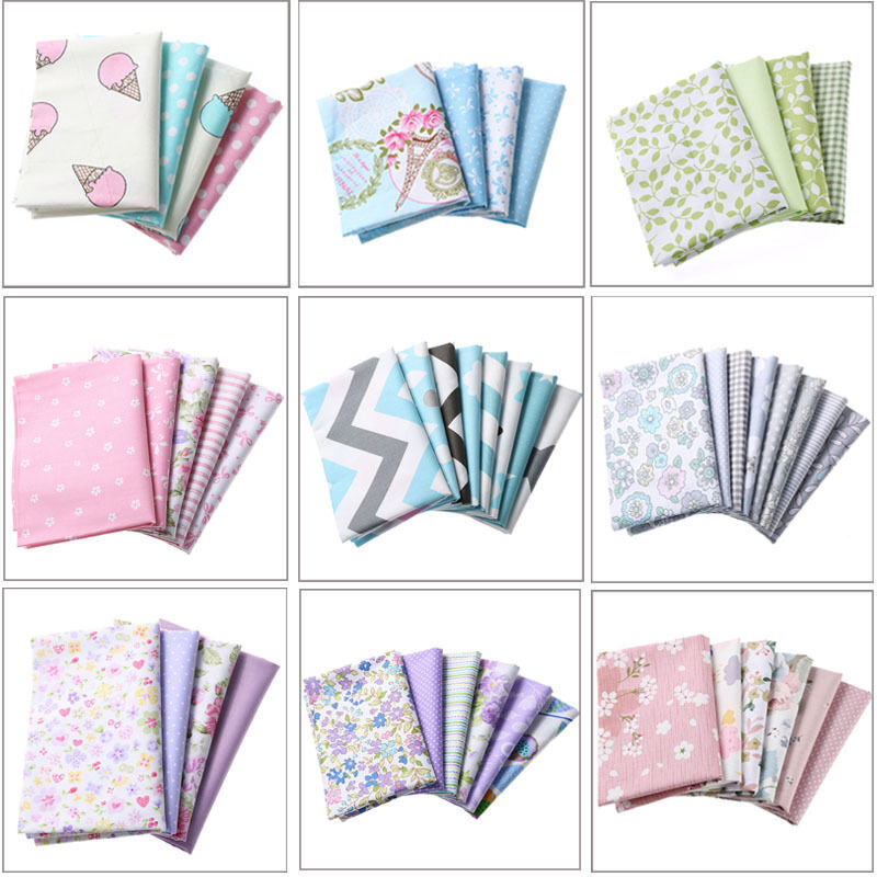 100/% Cotton Fabric Patchwork Sewing Baby Doll Clothes Handmade DIY Handcrafts