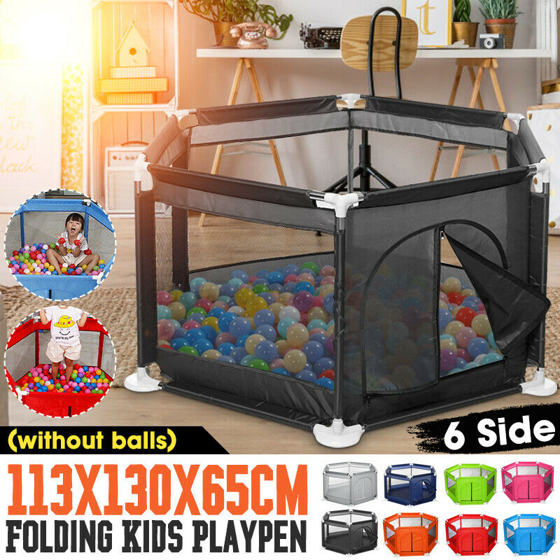 44.5*23.6inch Foldable Children Baby Kid Playpen Play Pens Toddler Creeping Yard