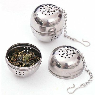 Tea Infuser Ball Mesh Loose Leaf Herb Strainer Stainless Steel Secure Locking ()