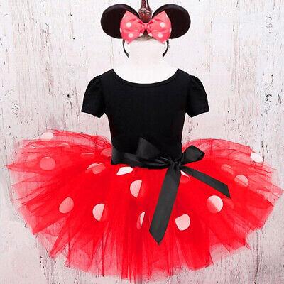 Halloween Minnie Dots Costume Kids Girl Baby Birthday Party Costume Fancy Dress