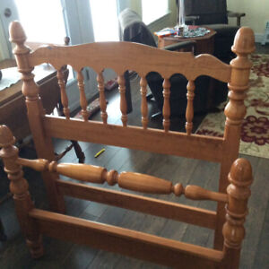 Solid Maple twin bed