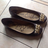 Sam Edelman brown leather flats
