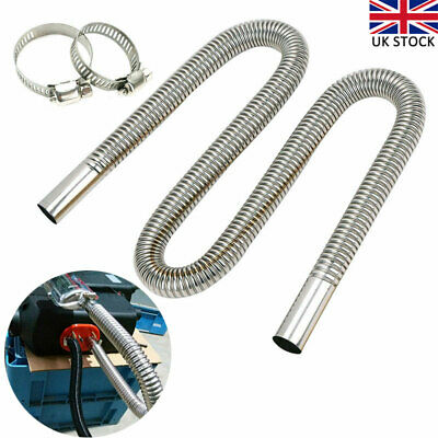 Exhaust Pipe Hose 120cm Stainless Steel Car Parking Air Heater Diesel Gas Vent