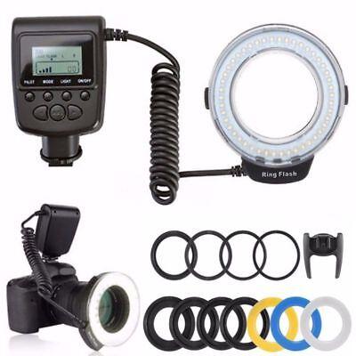 New Macro 48pcs LED Adapter Ring Flash Light RF550D for Canon SONY Nikon Camera